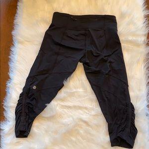 "Black Lululemon ""In the glow"" Capri leggings"